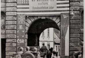 Český Krumlov liberation by the US army